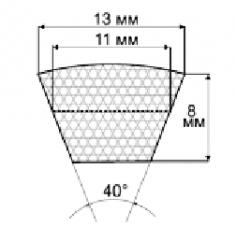 Ремни профиль A,  13х8 мм