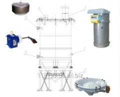 Standard equipment of silos. Accessories for a sil