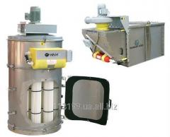 Filters dust collectors with automatic cleaning