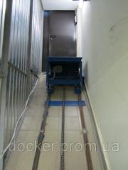Elevator inclined Docker of electric 1000х800 mm,