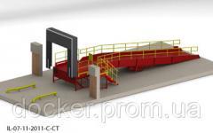 Viaduto sobrecarga 9m plataforma 6m 1.8h2m doca e