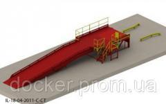 Viaduto 2h2.5m sobrecarga 9m 6m plataforma de cais