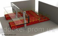 Пандус перегрузочный 6т с 2 платформами уравнительными 2х2м на два уровня