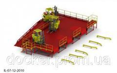 Пандус перегрузочный 6т с 3 платформами уравнительными 2х2м и эстакадой стационарной 12м