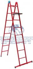 Ladder two-section metal household hinged