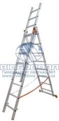 Ladder three-section aluminum household Budfix of
