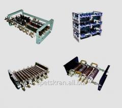Blocks of resistors