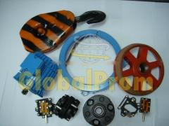 Parts and accessories for hoists
