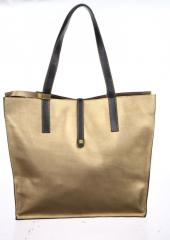 Roomy Valenta female bag from natural bronze color