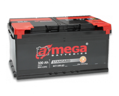Аккумулятор A-MEGA, 100 Ач, 352x175x190, Правый + (обратной полярности), 950А