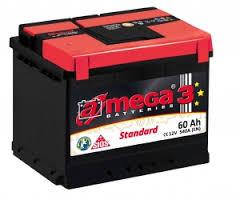 Аккумулятор A-MEGA, 60 Ач, 243x175x190, Правый + (обратной полярности), 540А