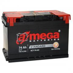 Аккумулятор A-MEGA,  74 Ач,  278x175x190, ...