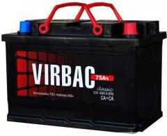 Аккумулятор Virbac Classic 6CT-75R+