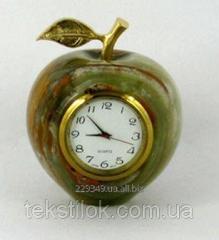 Часы Яблоко из оникса 6,5см