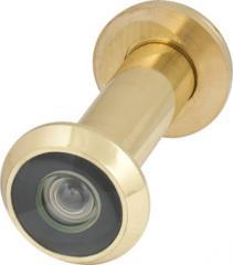 Глазок дверной, стеклянная оптика DVGU, 28/65х90 GP Золото