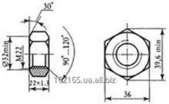 Nut terminal M22 of GOST 16018-79