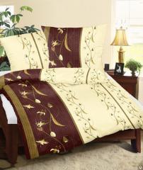 Bed linen of KORAL (coarse calico), 1.5 sleeping,
