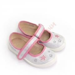 Slippers for the girl on flypapers of
