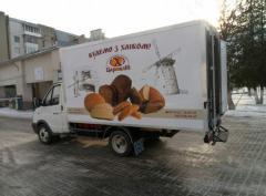 Isothermal van for transportation of milk, meat,