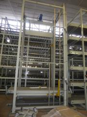 Warehouse equipment. Automated warehouse for