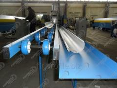 Production line of a semicircular gutter