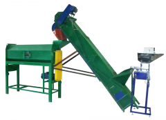 Line of calibration and polishing of agricultural