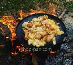 Сковорода бороны для пикника, из диска, с крышкой и чехлом