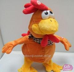 The Cockerel soft toy - sings and dances