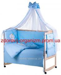 Детская постель голубой (мишка штопанный с...