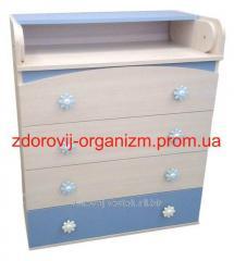 Pelenalny dresser of Natalk Dub dairy with blue