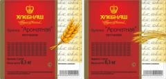 Self-adhesive label for bread and bakery products