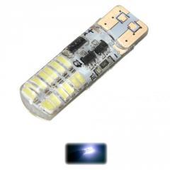 Led лампы T10 W5W 24SMD 3014 Silikon (Белый) Cтробоскоп
