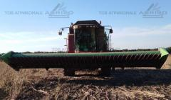 Bezryadny harvester on sunflower of Zaffrani on Keyes, Leksion, John Deere