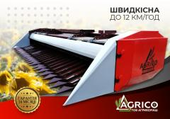 Harvester for cleaning of sunflower of ZhNS-6; -