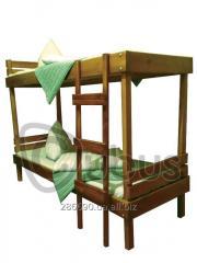 Bunk bed EKO-double 70/190 (nut)