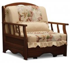 Chair a bed from the massif of an oak to order