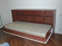 Кровати откидные из дуба и клена на заказ