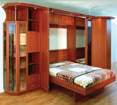 Beds wooden lifting to order