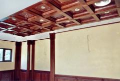 Потолки подвесные из натурального дерева