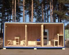 Production of cars saunas from a tree