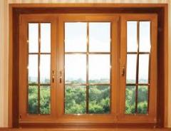 Windows from a tree, frames wooden for windows to