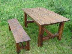 Benches and tables