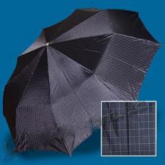 Зонт мужской Zest 13943-2. Полный автомат. Клетка синяя.