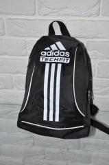 Спортивный рюкзак Adidas R-88. черный+белый.Небольшой женский/детский рюкзак
