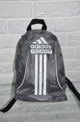 Sports backpack of Adidas R-88. (gray + white).
