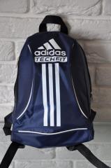 Спортивный рюкзак Adidas R-88. синий+белый.Небольшой женский/детский рюкзак