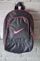 Спортивный рюкзак Nike R-99. серый+розовыйй.Небольшой женский/детский рюкзак