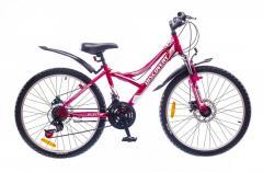 "Велосипед Discovery 24 Flint DD 2016, рама 13"" розово-бело-серый"