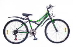 """Велосипед Discovery 24 Flint 2016, рама 13"""" черно-серо-зеленый"""