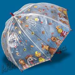 Зонт детский прозрачный трость Zest 1